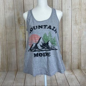 Mountain Mode Flowy Graphic Tank Top